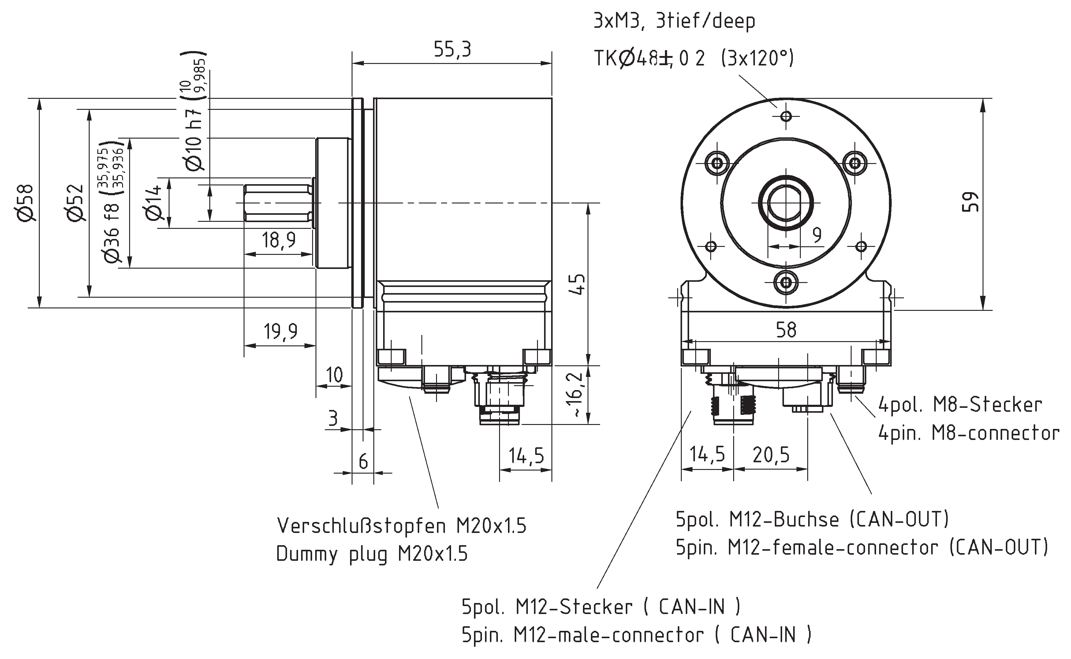 Absolute-Encoder COV58 - CO