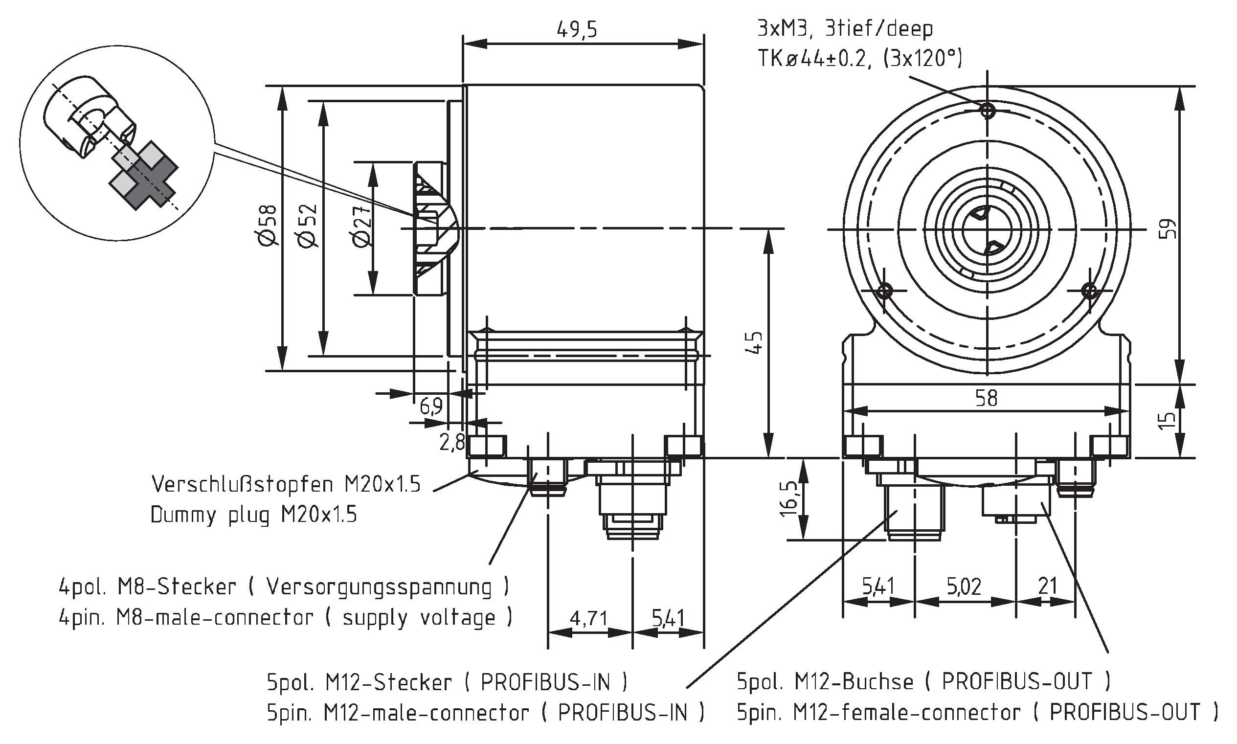 Absolute-Encoder COK58 - PB