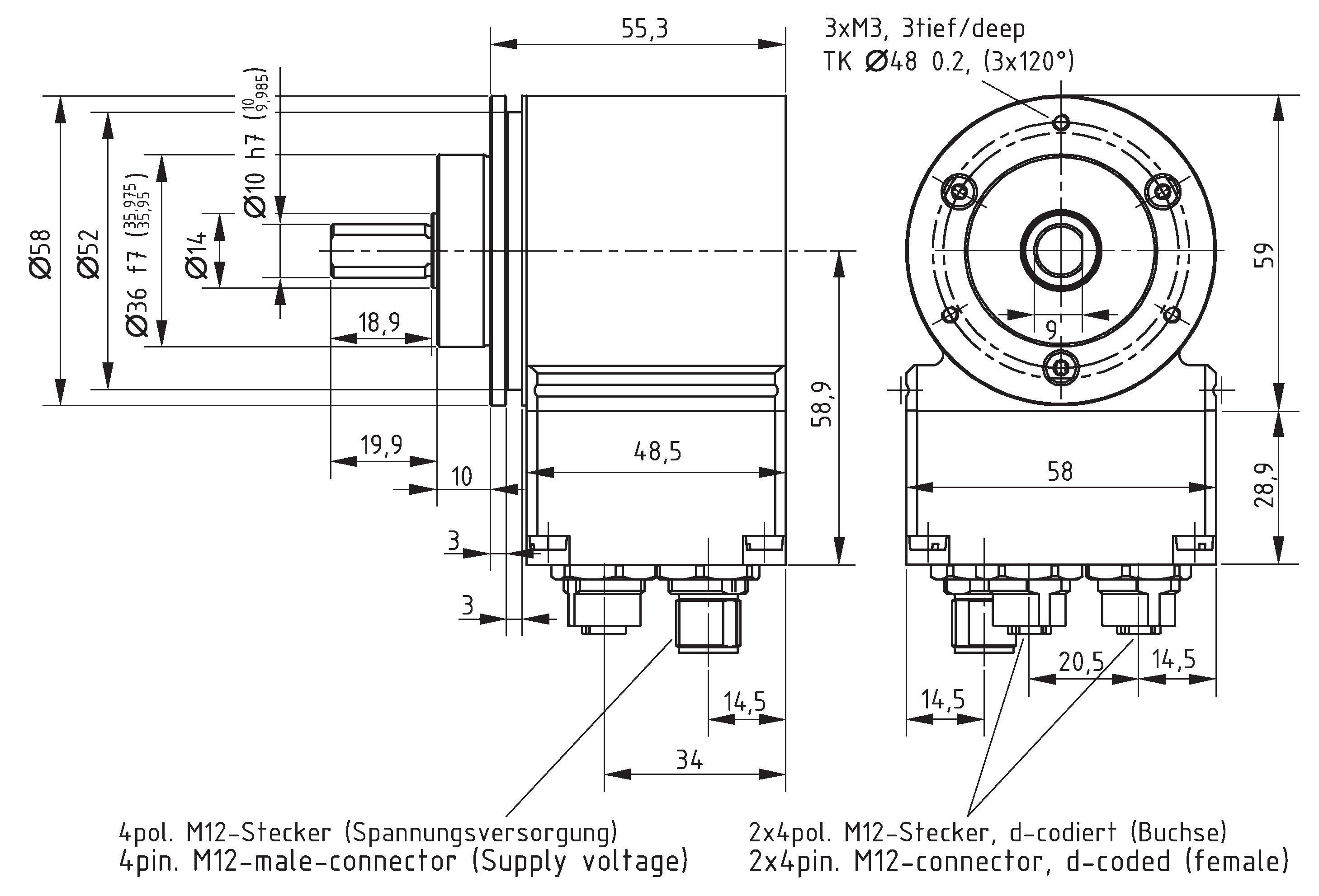 Absolute-Encoder CEV58 - EPN