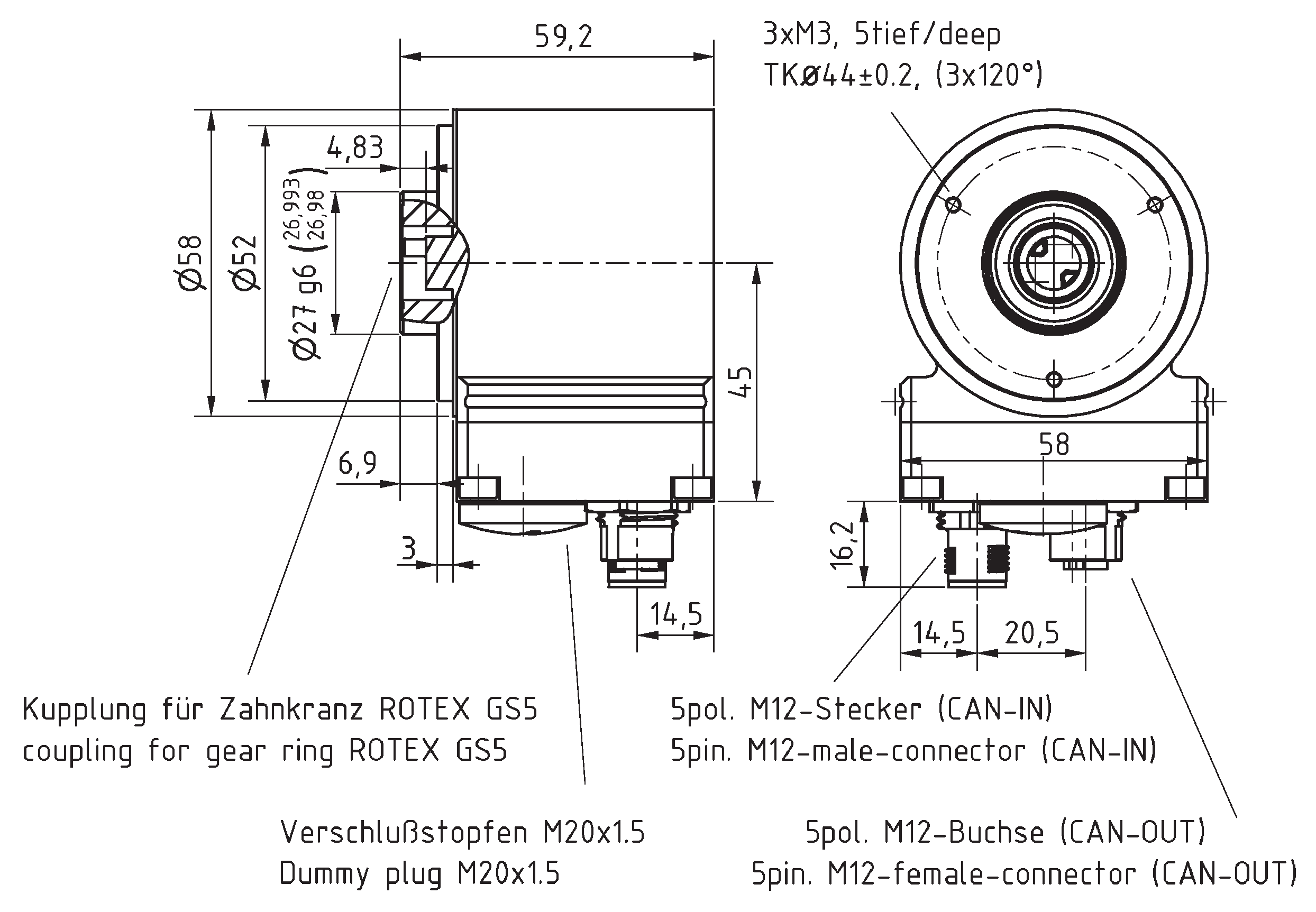Absolute-Encoder COK58 - CO